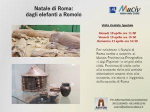 """Natale di Roma - Dagli elefanti a Romolo @ Museo nazionale etnografico """"Luigi Pigorini""""   Roma   Lazio   Italia"""